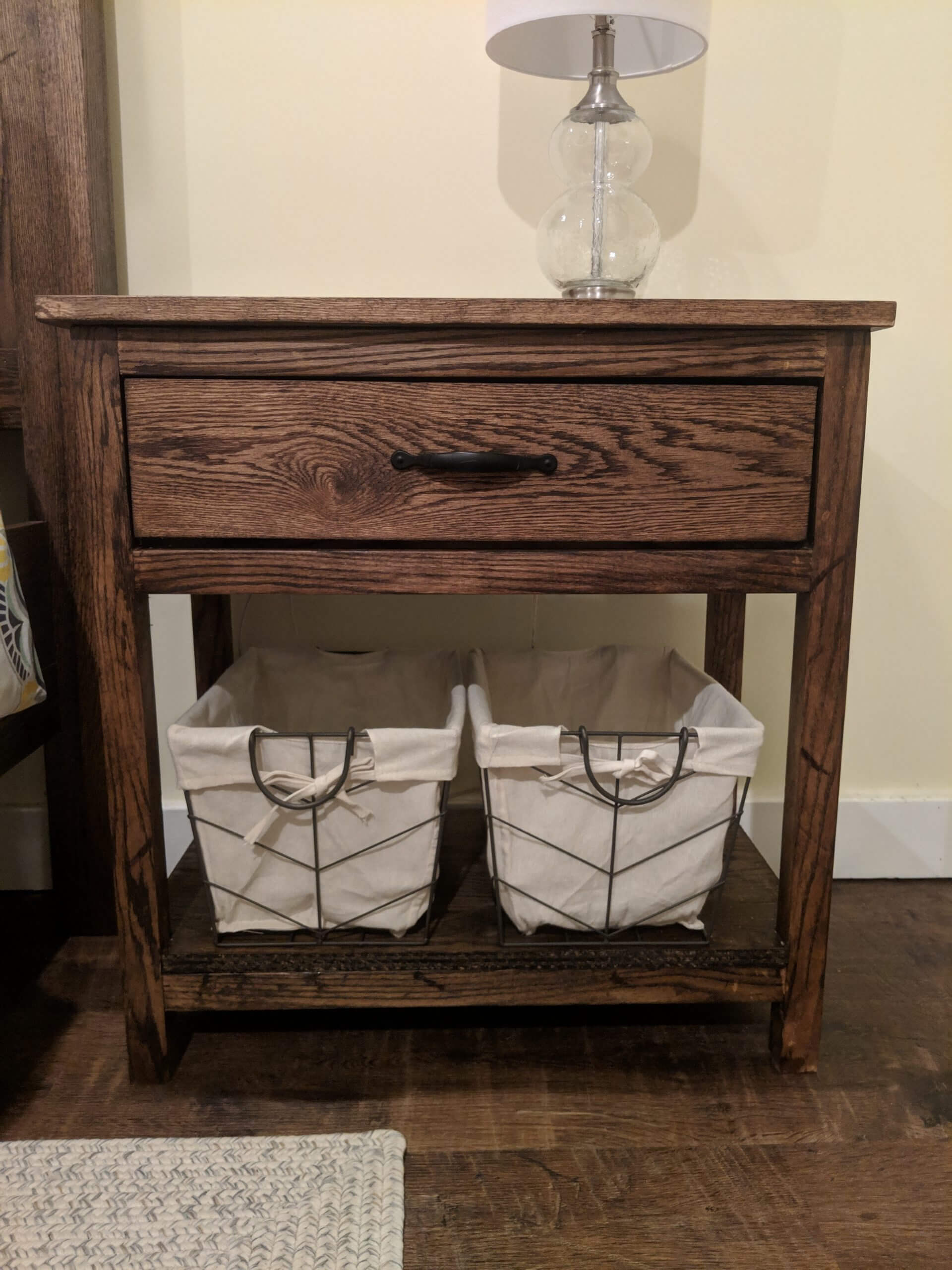 Farmhouse Nightstand V1 Canterbury Woods Creations
