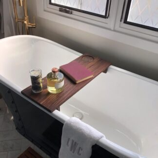 Black Walnut Bath Caddy 10