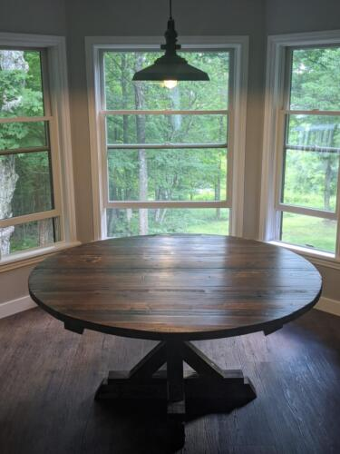 Dining Table from Reclaimed Silo Wood